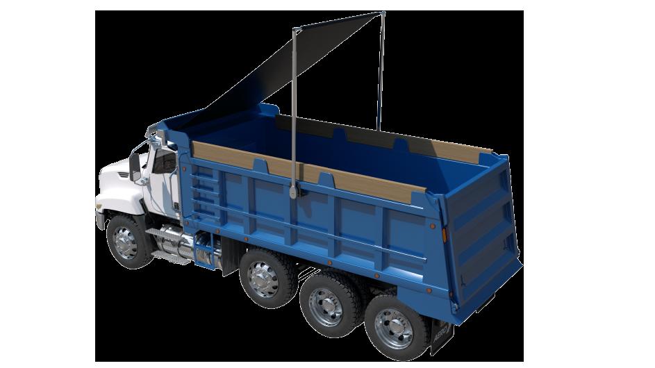 Aero EasyCover on dump truck
