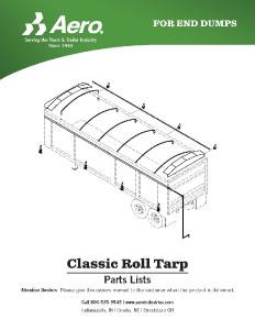 Classic Roll Tarp Parts List