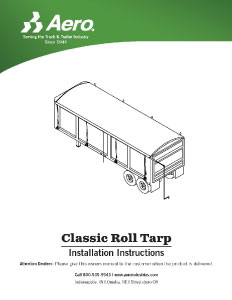 Classic Roll Tarp Installation Instructions