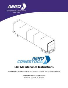 CXP Preventive Maintenance Instructions
