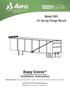 Easy Cover Model 595 10 Spring Flange Mount Installation Instructions