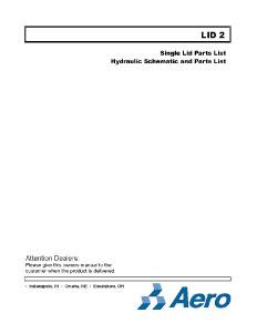 Lid2 Single Lid Parts List