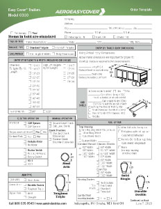 Easy Cover Order Form / Trailers