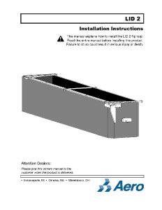 Lid2 Installation Instructions