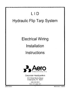 Lid2 Electrical Wiring Installation Instructions