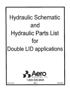 Lid2 Hydraulic Schematic + Hydraulic Parts List for Double Lid Applications