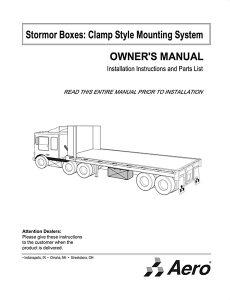 AeroBox Owners Manual